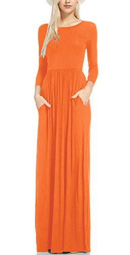 orange long dresses wedding - 6