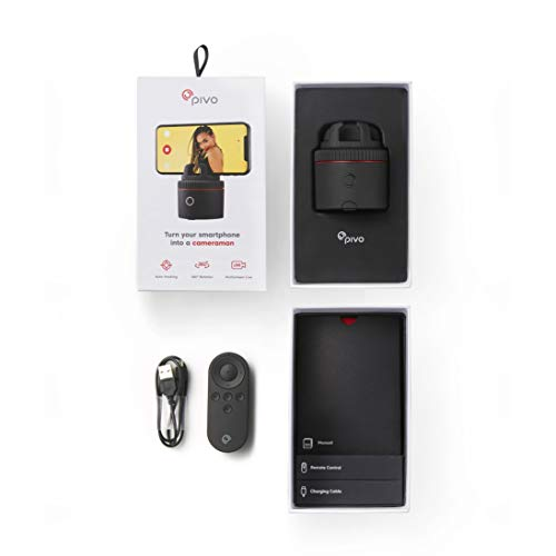 Pivo Pod Red with Remote Control – Auto Tracking Smartphone Pod – Handsfree Face Body Motion Tracking Camera Phone Mount…