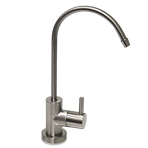 Water Faucet, Lead-Free Beverage Faucet Water Filtration System Purifier filter Drinking Water Faucet 1/4-Inch Tube, Brushed Stainless SteelBy E-Starlet