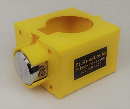 Gooseneck cable lever lock includes Trimax puck lock - Lock Cable Gooseneck