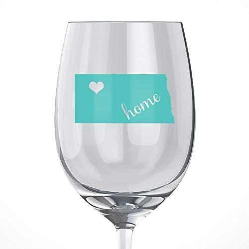 North Dakota Home Wine Glass