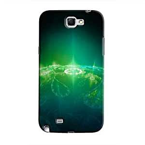 Cover It Up - Green Pattern Planet Galaxy Note 2 N7100 Hard Case