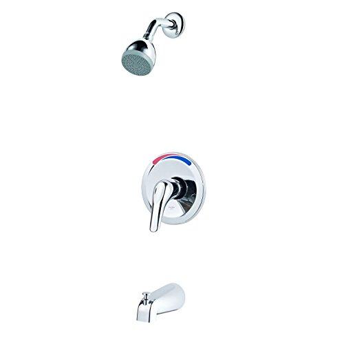 Pfister LG890300 Pfirst Series 1-Handle Tub and Shower Trim, Polished Chrome