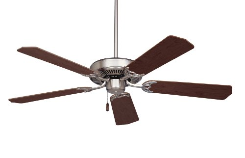 Emerson Ceiling Fans CF700BS Builder 52-Inch Energy Star Ceiling Fan, Light Kit Adaptable, Brushed Steel Finish