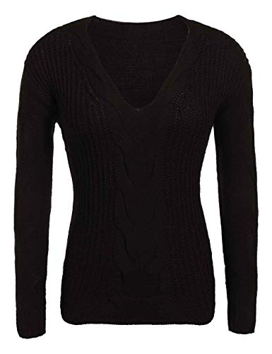 Pull Femme Warm Sweater Chandails Pull Mode Tricot Femme Soldes Haut Tricot Pulli Pull Hiver Oversize Pullover Pull Christmas No Pullover De Cher Fille Chic Col pour Hiver Pullover Woll Schwarz l Pas zqxOHwCC
