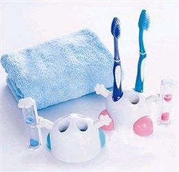 La mayoría de Creative para cepillos de dientes (reloj de arena Super Cute dibujos animados reloj de arena temporizador cepillo de dientes titular diente ...