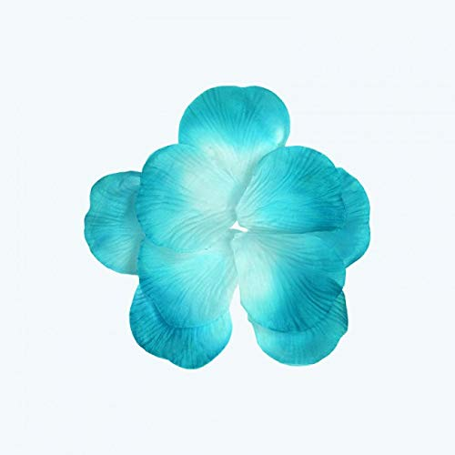 - OOKI Silk Fabric Flower Mini Rose Petals for Weddings (1200 Pieces) (Turquoise)