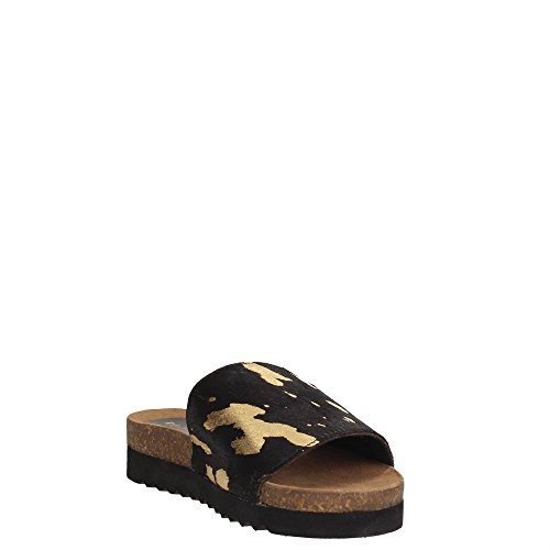 Docksteps Femme Sandale Black DSE104226 Gold FwraF