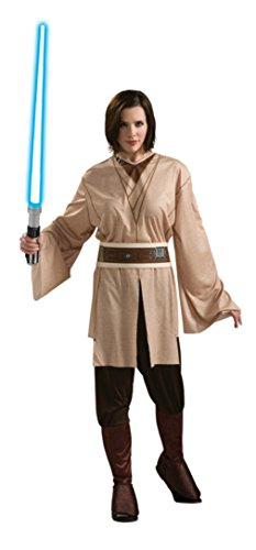 Rubies Womens Star Wars Jedi Knight Master Brown Costume Halloween Fancy Dress, One Size (Up To (Plus Size Jedi Costumes)