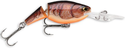 Brown Lures - Rapala Jointed Shad Rap 05 Fishing lure, 2-Inch, Brown Crawdad