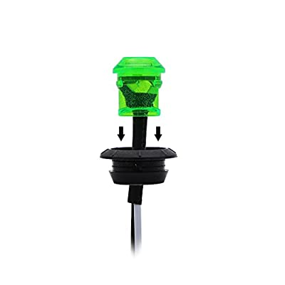 Meerkatt (Pack of 20) 3/4 Inch Mini Round Green LED Extra Bright Clearance Lamp Side Marker Flush Mount Indicator Light Waterproof Trailer Bus Caravan Boat Jeep Pickup Universal 12V DC Grommets: Automotive