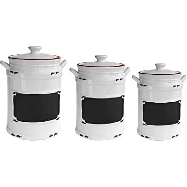 American Atelier Vintage 3 Piece Canister Set, Red