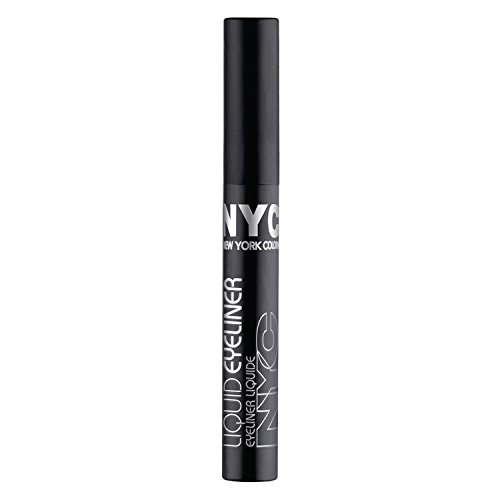 New York Color Liquid Eyeliner, Extreme Black 0.17 oz (Pack of 2)