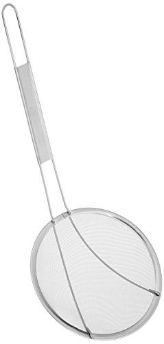 Winco Stainless Steel Strainer, 6.5-Inch Diameter, Fine Mesh