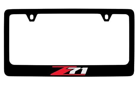 4 Hole//Brass, Chrome//Top Baronlfi Chevrolet Z71 License Plate Frame Holder
