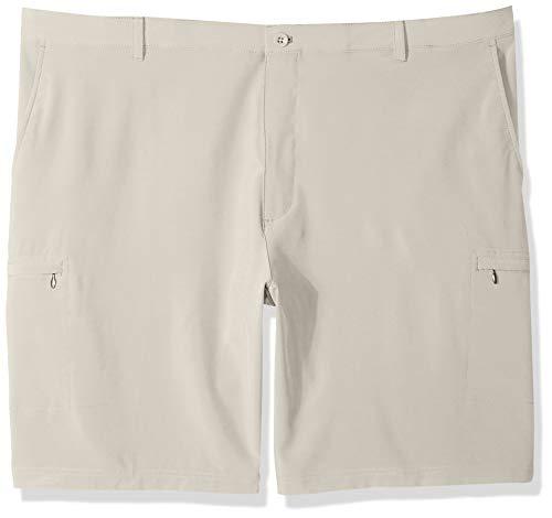 (IZOD Men's Big and Tall Golf Swing Flex Stretch Cargo Short, stonedust, 50)
