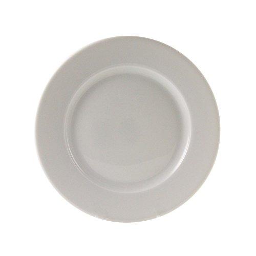 "10 Strawberry Street Bistro 8"" Salad/Dessert Plate, Set of 6, White"