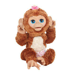 Amazon Com Furreal Friends Cuddles My Giggly Monkey Pet