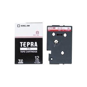 (業務用30セット) キングジム テプラTRテープ TC12SR 白に赤文字 12mm B075B5JCG1