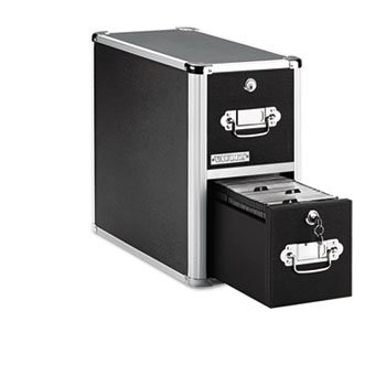 Two-Drawer Cd File Cabinet, Holds 330 Folders/120 Slim/60 Std. Cases