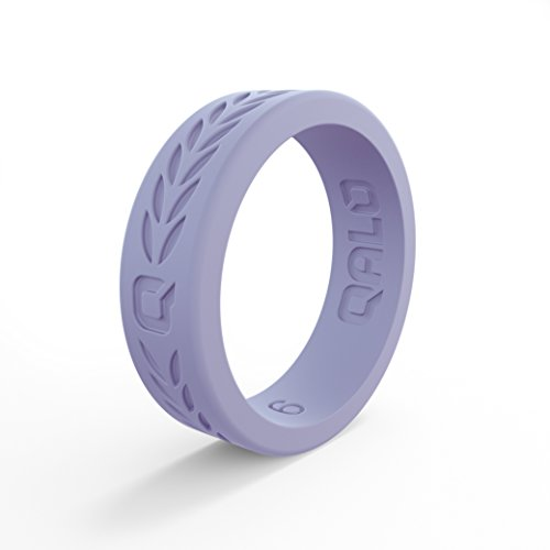 (QALO Women's Perwinkle Blue Laurel Q2X Silicone Ring Size 07)