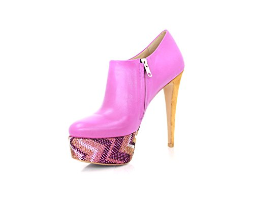 Boots Women's Heels red fuchsia Diamond wazXqPS7