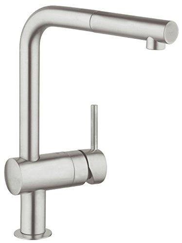 Grohe-32168DC0-Minta-Miscelatore-Monocomando-per-Lavello-Monogetto-Acciaio-Satinato