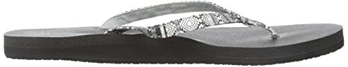 Sanuk Yoga Joy Funk Negro tribal rayas Chanclas Multicolor - negro/multicolor