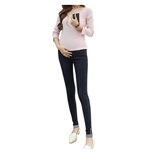 Jean Bleu Neuf lastiques Deylaying Style Mom 4 Maigre Leggings de Femmes Pantalon maternit AwHqZ