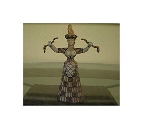 Hand Made Minoan Art Snake Goddess - Palace of Knossos - Replica Figure