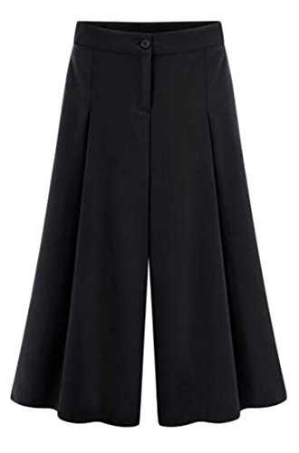 Linen Blend Cropped Pants - 8