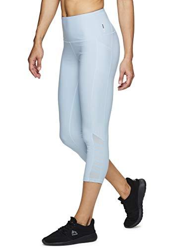 RBX Active Women's Mesh Pocket Running Yoga Capri Leggings 19 Blue XL