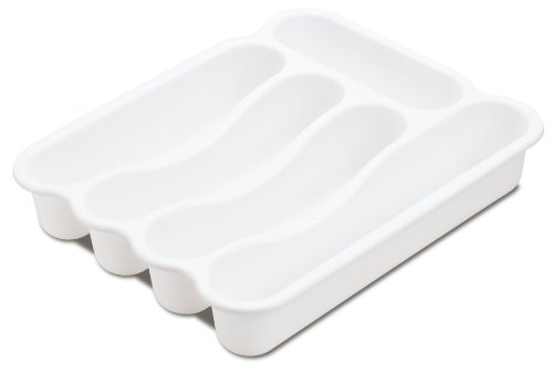 STERILITE 15748006 5 Compartment Cutlery Tray, White, 6-Pack by STERILITE