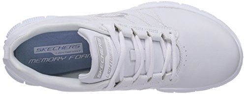 Skechers Flex AppealPure Tone - zapatilla deportiva de cuero mujer blanco - Weiß (WHT)