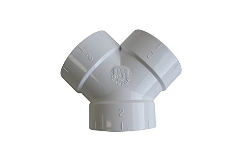 ZVac Central Vacuum Cleaner Short Y WYE 3 Way Connector Fittings for All Central Vacuum Systems Including: Aggresor Airvac AstroVac Cana-Vac Cirrus Drainvac DuoVac (1, Short Y WYE 3 Way Connector)