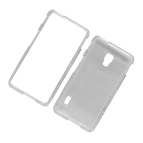 Eagle Cell Transparent Protector Case for LG Optimus F6 - Retail Packaging - Clear (Lg F6 Silicone Case)