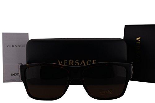 Versace Havana Sunglasses (Versace VE4296 Sunglasses Havana w/Brown Lens 10873 VE 4296)