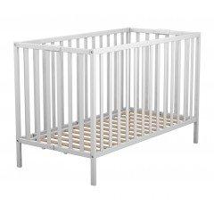 Lit bébé pliant en bois laqué blanc Baby Fox 60 x 120 cm