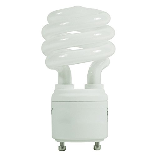 13 Watt - Spiral CFL - 60W Equal - 2700K Warm White - GU24 Base - Litetronics L-13C27