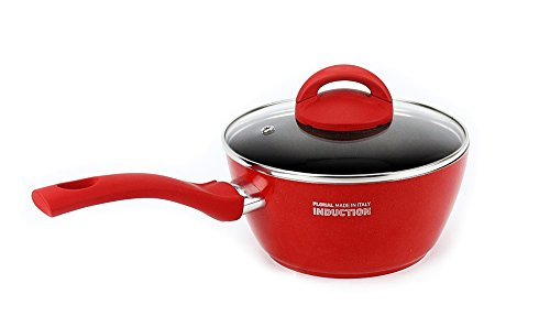 "Flonal Gemma Induction Sauce Pan, 7"", Red"