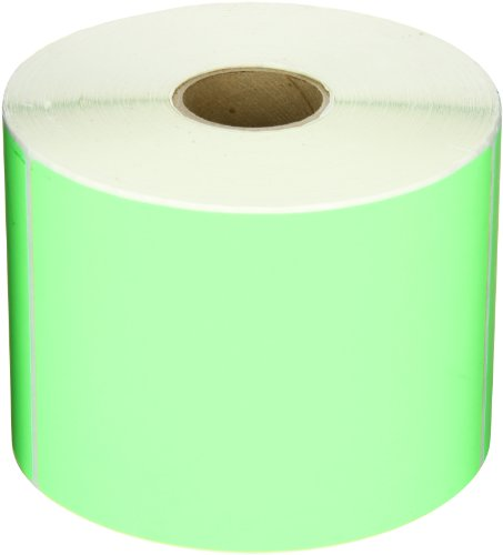 Aviditi DL635J Rectangle Inventory Color Coded Label, 6'' Length x 4'' Width, Fluorescent Green (Roll of 500) by Aviditi