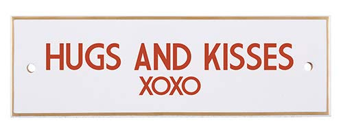 US Gifts Hugs and Kisses (XOXO) - 7.875'' X 2.5'' Tabletop Plaque