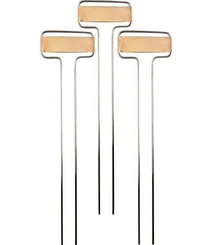 Nighthawk Beautiful Copper Plate Metal Plant Markers, 10'' inch. Garden Label Plant Tag | Weatherproof Flower Marker Id Marking Stakes (30 Pack) by Nighthawk