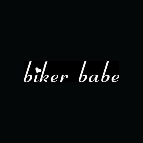 Biker Babe Sticker Car Window Motorcycle Helmet Vinyl Decal Chick Sexy Girl Cute - Die Cut Vinyl Decal for Windows, Cars, Trucks, Tool Boxes, laptops, MacBook - virtually Any Hard, Smooth Surface