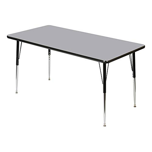 Rectangle Adjustable Height School Classroom Activity Table (30