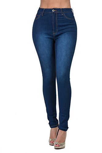 LOVER BRAND FASHION High Rise-Waisted Ladies Multi-Color Stretch Skinny Curvy Women Colored Jeans Pants Black Olive (Womens Fashion High)