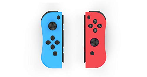 Skywin NS Switch Joy Pad Controllers - Left and Right Controllers Compatible with Nintendo Switch as a Joy Con Controller Replacement - Red/Blue