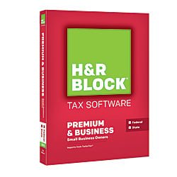 HR Block(R) Tax Software 15 Premium Business, For PC, 1-Year Subscription, Tradition Disc