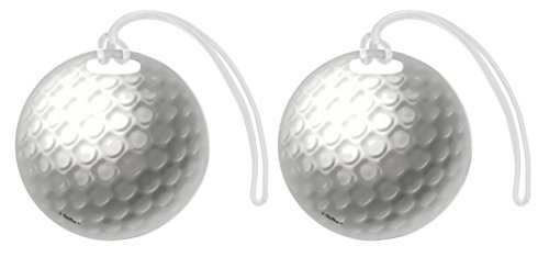 Golf Bag Tag Golf Ball Luggage Tag Golf Equipment Gifts Golf Club Bag Tag Gift 2-pack Aluminum Circle Luggage Tags