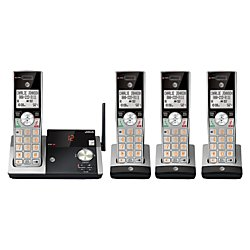 ATT DECT 6.0 Cordless Phone With Digital Answering System, CL82415, 4 Handsets